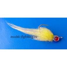 Jig head streamer polar fibre (lemon)