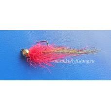 jig barbless craft fur hackle (red)