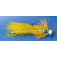 Jig streamer marabou (yellow. olive)