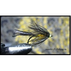 wet fly-F black-orange&black